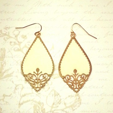 Cutout Earrings - Ivory