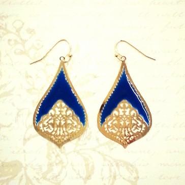 Teardrop Earrings - Royal Blue