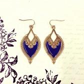 Bali Cutout Earrings - Royal Blue