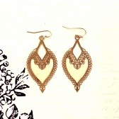 Bali Cutout Earrings - Ivory