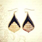 Teardrop Earrings - Black