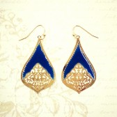 Teardrop Earrings - Royal Blue