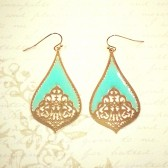 Teardrop Earrings - Mint