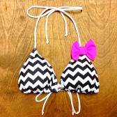 Amour Bow Triangle Top - Chevron