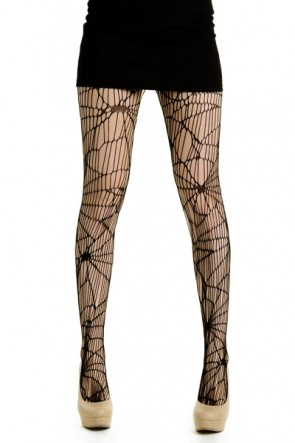 Yelete Spiderweb Net Pantyhose in Black (828DY718)