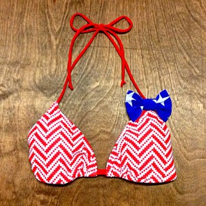 Amour Bow Triangle Top - Patriotic