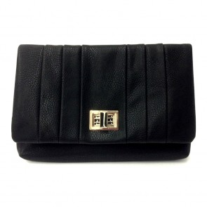 Pleat Clutch - Black