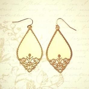 Cutout Earrings - Ivory