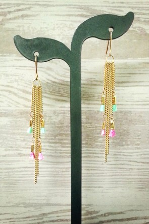 Don't Tassel Me Earrings - Mint & Pink