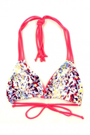 Heat Wave Triangle Bikini Top - Mosaic