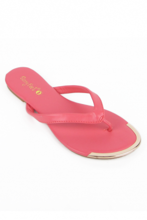 Sunny Feet Macalen-07 Metal Tipped Sandals in Coral