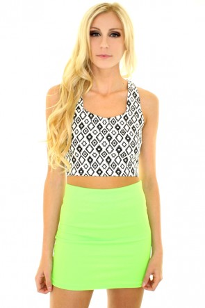 Chloe Mini Skirt - Neon Green