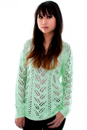 Pretty Pastel Sweater - Mint