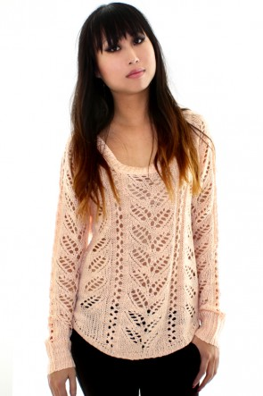 Pretty Pastel Sweater - Peach
