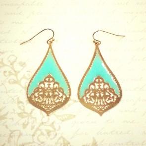 Teardrop Earrings - Mint