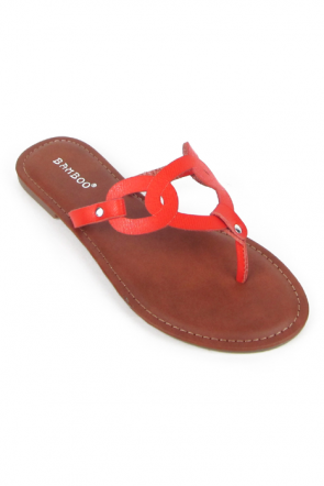 Bamboo Warner-09 Cut Out Sandals in Coral